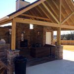 Outdoor Kitchen with Stone Work